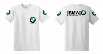 BMW motorcycles feliratú Férfi póló motoros T-shirt fehér - Motoros ... a9b450624f