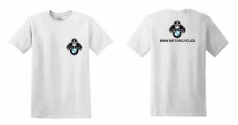BMW Motorcycles férfi póló motoros t-shirt fehér - Motoros pólók ... 251858f3ea