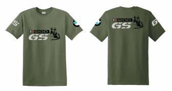 R 1200 GS BMW férfi póló motoros t-shirt színes szürke GS kék-piros ... c525a1b98f