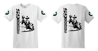 R 1200 GS BMW férfi póló nagy álló motor motoros t-shirt fehér ... 9afc56c2c3