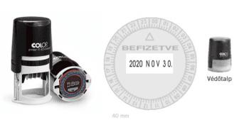 COLOP R40 24 órás dátum bélyegző (gumival együtt