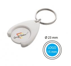 Bevásárlókocsi érme zseton műanyag kulcstartó kulcskarikával egyedi színes  (4 szín color) felirattal és logóval db6a5e7353