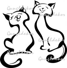 Macskák falmatrica faltetoválás többféle színben applikáló fóliával ellátva b3d9c399fc