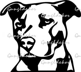 Pitbull fej falmatrica faltetoválás többféle színben applikáló fóliával  ellátva fbd67c932d