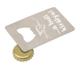 Fém kártya üvegnyitóval sörnyitóval egyedi gravírozott szöveggel csomagban  is 465e41f4b2