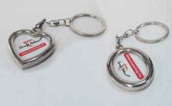 Ovális vagy szív alakú fényképes fém kulcstartó egyedi fényképpel szöveggel 99228d5c96