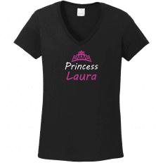 87006b0e48 Princess névre szóló koronás egyedi grafikás női póló - Pólók ...