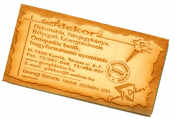100 db fa névjegykártya a302e468cb