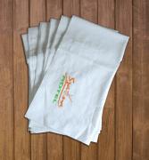 Szaunaklubbok hotelek részére 10 db-os Szaunalepedő zsebbel darázsmintás  vászon egyforma egyedi szaunás logó hímzéssel 95e98c42fc