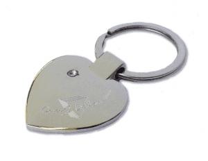 Szív alakú fém kulcstartó kis kővel egyedi gravírozott szöveggel ... 424afe156e