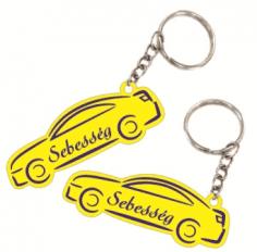 Autó formájú biléta egyedi felirattal kulcstartó lánccal és karikával  ellátva 2db-os gravírozott műanyag kivitelben többféle színben 5653e1322f