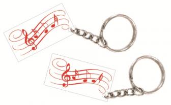 Hangjegyes biléta egyedi szöveggel kulcstartó lánccal és karikával ellátva  2db-os gravírozott műanyag kivitelben többféle színben 5f650ec78c