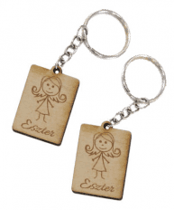 Neves lányos vagy fiús biléta egyedi felirattal kulcstartó lánccal és  karikával ellátva 2db-os gravírozott f55b78e83d