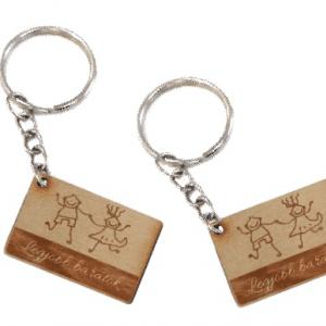 Legjobb barátok biléta egyedi szöveggel kulcstartó lánccal és karikával  ellátva 2db-os gravírozott bükkfa kivitelben - Gravírozott Kulcstartós  Biléták ... c755409dc1